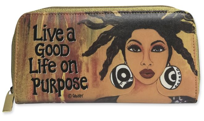 Live A Good Life On Purpose - ladies wallet