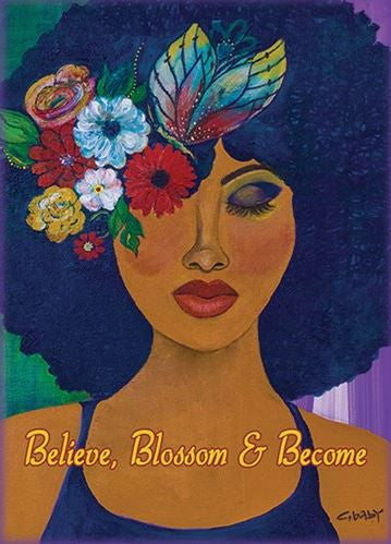 Believe Blossom Become - Gbaby - magnet