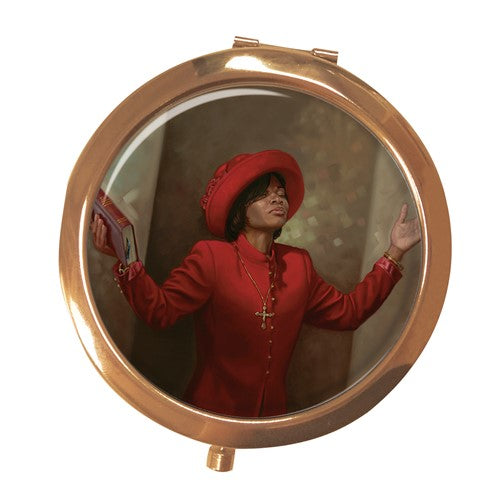 Blessed and Highly Favored - mirror compact