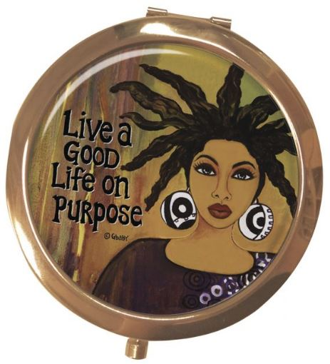 Live A Good Life On Purpose - mirror compact
