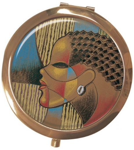 Composite of a Woman - mirror compact