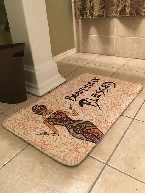 Beautifully Blessed - bathroom mat