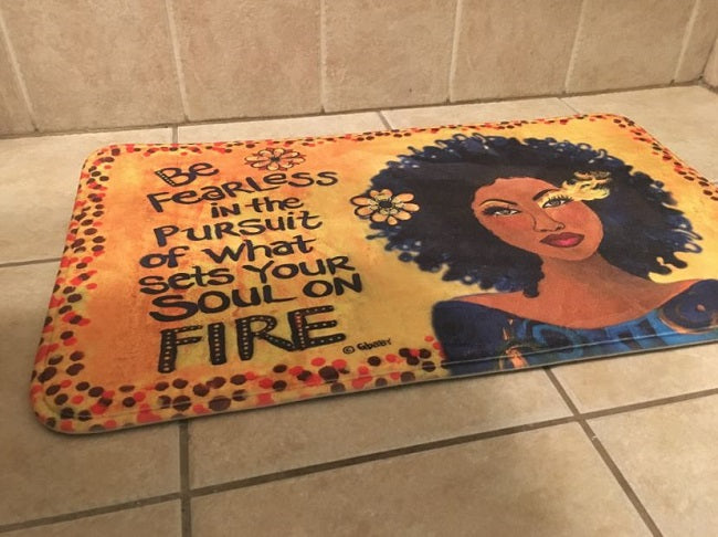 Sets Your Soul On Fire - bathroom mat