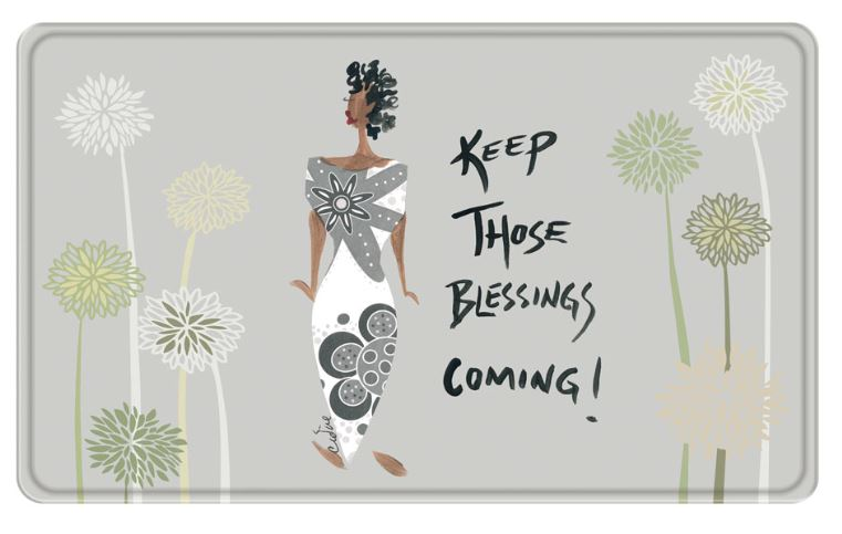 Keep Those Blessings Coming - bathroom mat