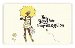 Bee Your Own Insp-Her-Ation - bathroom mat