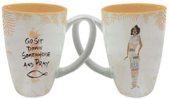 Go Sit Down Somewhere And Pray - Cidne Wallace - latte mug