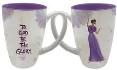 To God Be The Glory - Cidne Wallace - latte mug