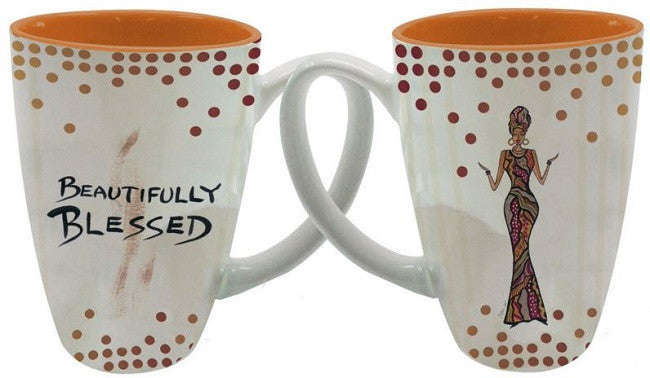 Beautifully Blessed - Cidne Wallace - latte mug