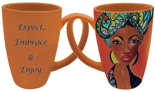 Expect Embrace Enjoy - Gbaby - latte mug