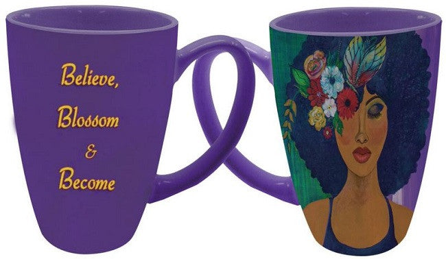 Believe Blossom Become - Gbaby - latte mug