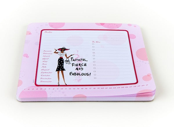 Faithful, Fierce, and Fabulous - memo mousepad