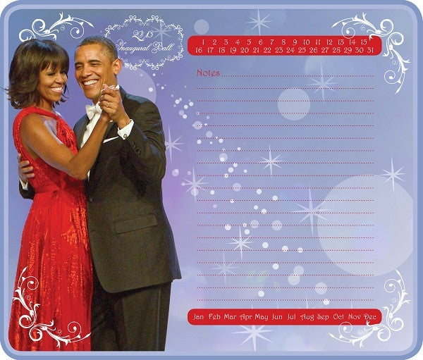 Memo mousepad - The Obamas