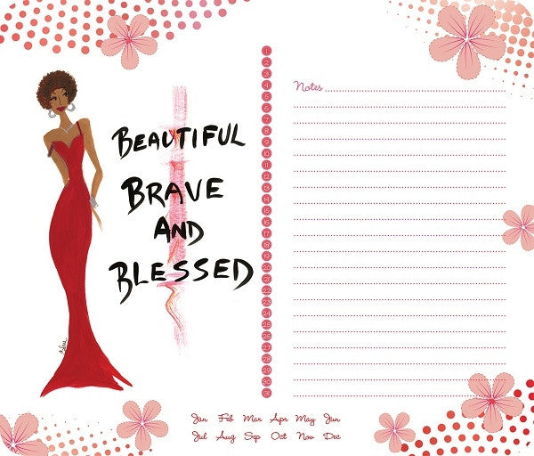 Beautiful Brave and Blessed - Cidne Wallace - memo mousepad