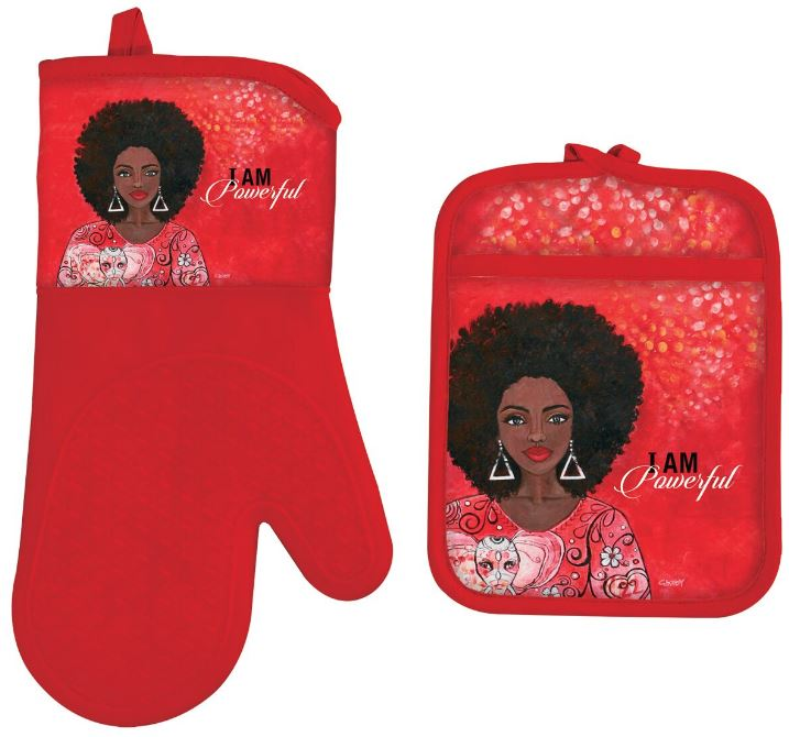I Am Powerful - oven mitt - pot holder