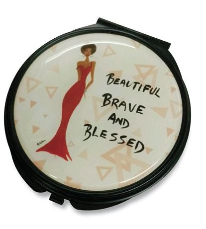Beautiful Brave and Blessed - mirror compact