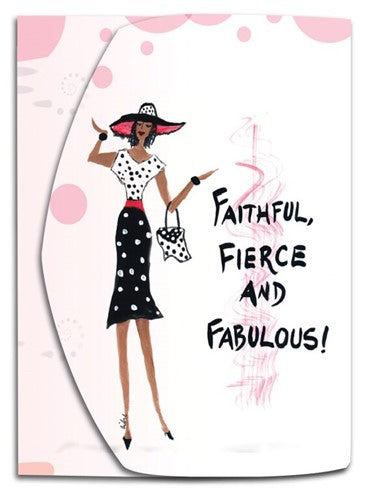Faithful Fierce and Fabulous -  mini note pad
