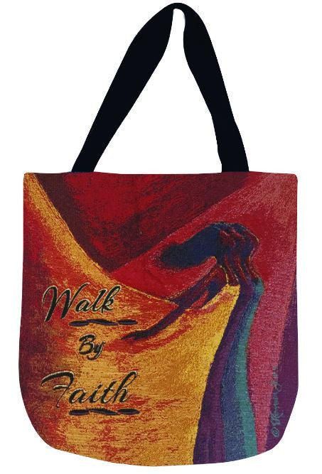 Walk By Faith - tote bag