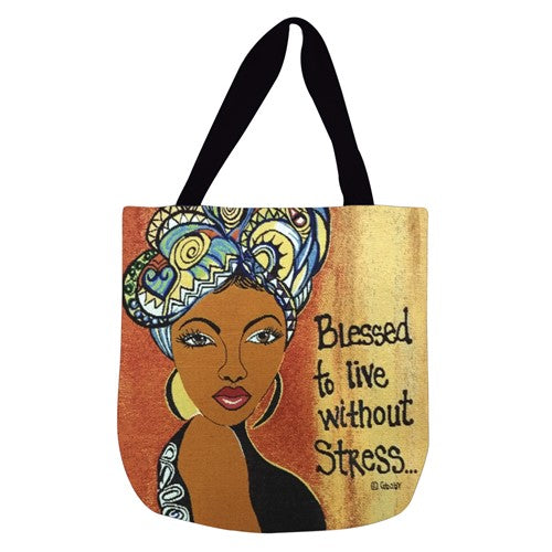 Blessed To Live Without Stress - tote bag
