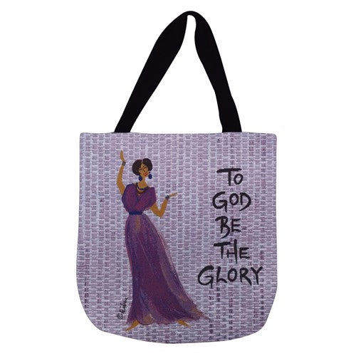 To God Be The Glory - tote bag