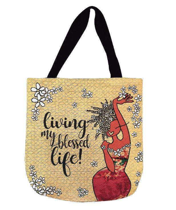 Living My Blessed Life - tote bag