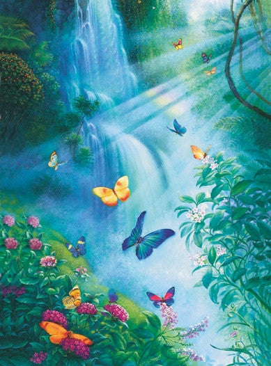 Butterflies in the Mist 1000 piece - jigsaw puzzle