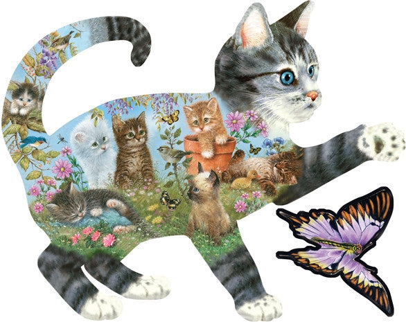 Kittens Delight 1000 piece- shaped jigsaw puzzle