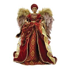 Angel Tree Topper - Diva in burgundy