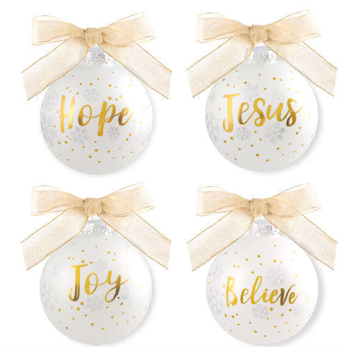 Season of Joy ornaments - set of 4