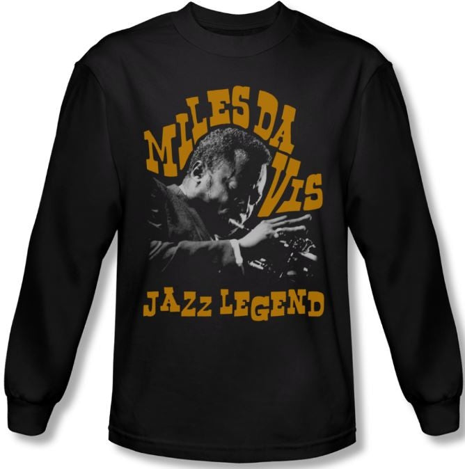 Miles Davis - Jazz Legend - long sleeve t-shirt
