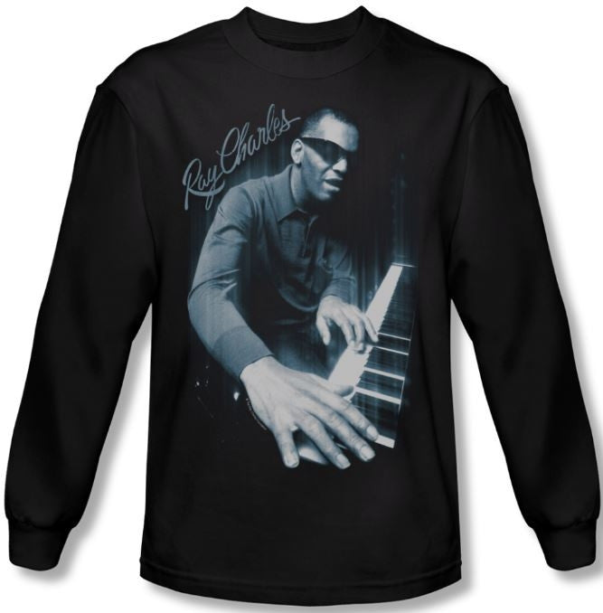 Ray Charles - Blues Piano - long sleeve t-shirt