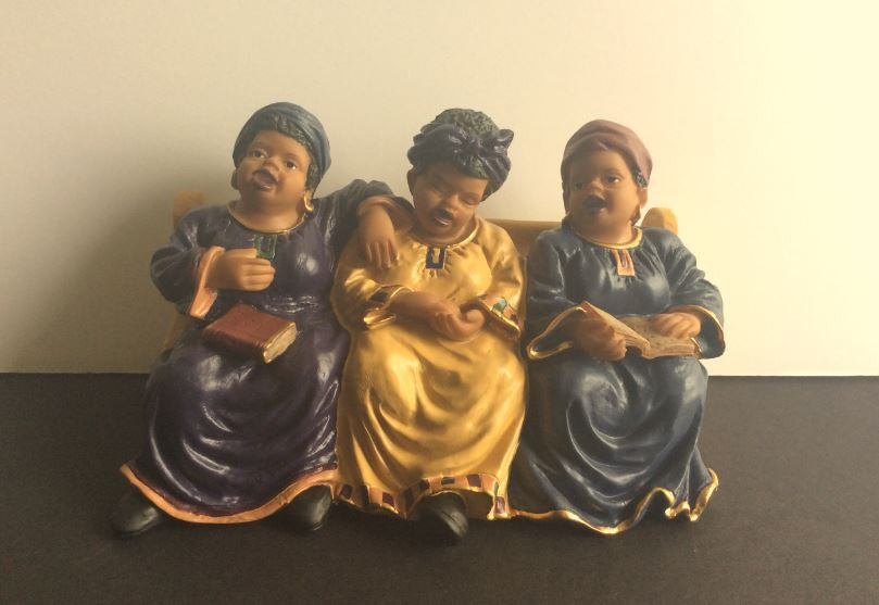 Church Pew - Sunday Ladies figurine