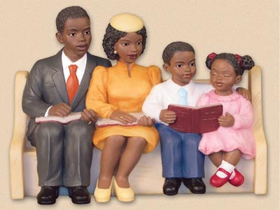 Church Pew - Happy Family - figurine