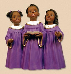 Childrens Choir purple gown - church figurine