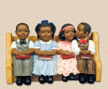 Church Pew Sunday School Kids Figurine It S A Black