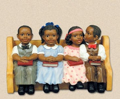 Church Pew  - Sunday School Kids - figurine