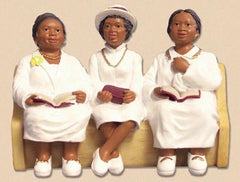 Church Pew - Deaconess Board - figurine