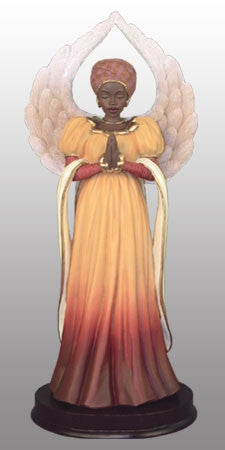 Serenity - in brown - angel figurine