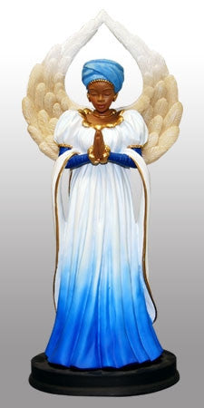 Serenity - in blue - angel figurine