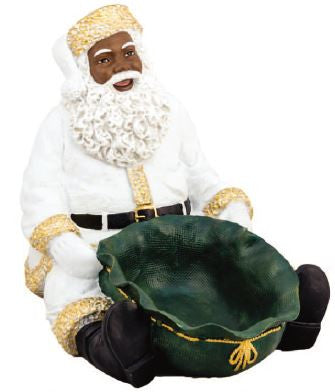 Santa Candy Tray - large in white - resin figurine