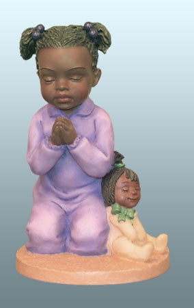 Praying Child - girl - figurine