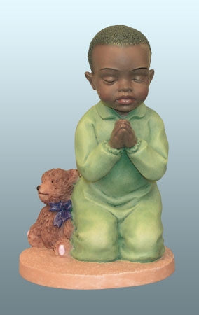 Praying Child - boy - figurine
