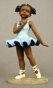 Standing Ballerina blue - sports - figurine