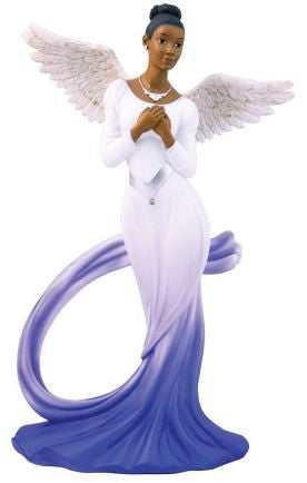 Graceful Angel - blue - figurine