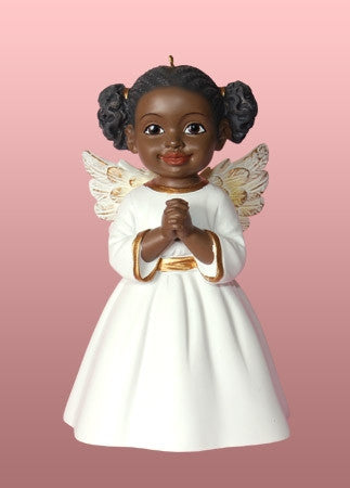 Angel Ornament - Prayer - white dress