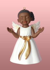 Angel Ornament -  Worship - white dress