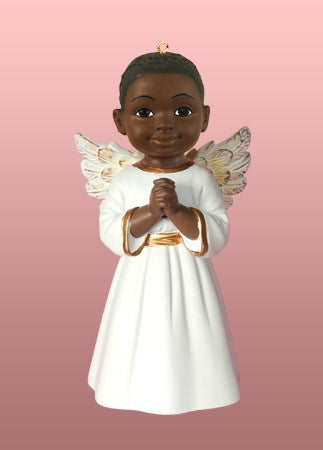 Angel Ornament-Figurine - Prayer boy in white