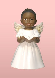 Cherub Angel - Singing Praise in white - figurine