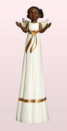 Tall Cherub Angel - Worship - figurine