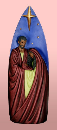 Tall Nativity - Afri Amer nativity scene - figurine - blue
