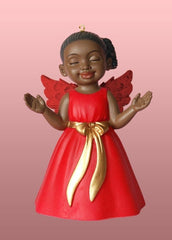 Angel Ornament - Worship - red dress